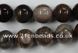 CWJ206 15.5 inches 16mm round wood jasper gemstone beads wholesale