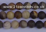 CWJ411 15.5 inches 6mm round matte wood jasper beads wholesale