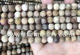 CWJ441 15.5 inches 6mm round matte wood jasper beads wholesale