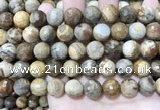 CWJ454 15.5 inches 12mm faceted round wood jasper beads wholesale