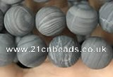 CWJ558 15.5 inches 8mm round matte coffee wood jasper beads wholesale