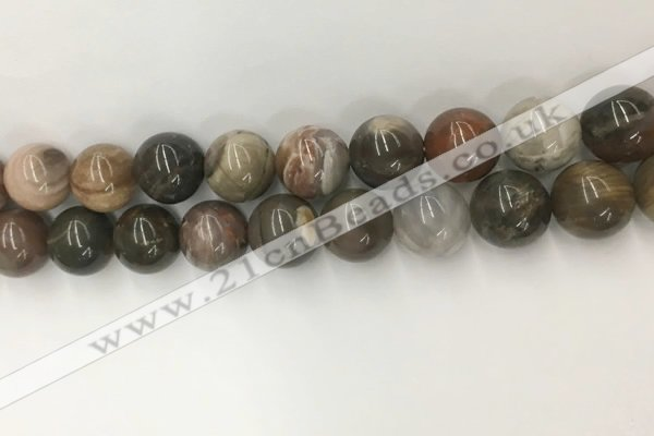 CWJ579 15.5 inches 14mm round wood jasper beads wholesale