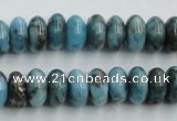 CYQ54 15.5 inches 6*12mm rondelle dyed pyrite quartz beads wholesale