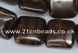 CZJ153 15.5 inches 20*20mm square iron zebra jasper beads wholesale