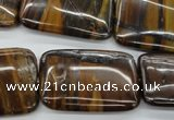 CZJ192 15.5 inches 20*30mm rectangle iron zebra jasper beads