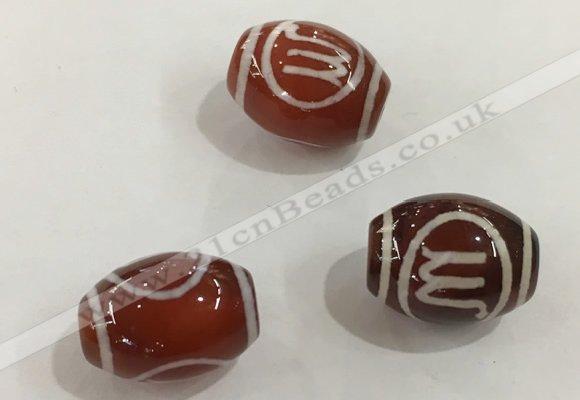 DZI376 10*14mm drum tibetan agate dzi beads wholesale