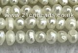 FWP01 15 inches 1.5mm - 1.8mm potato white freshwater pearl strands