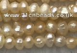 FWP06 15 inches 2mm - 2.5mm potato pink freshwater pearl strands
