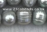 FWP139 15 inches 8mm - 9mm potato grey freshwater pearl strands