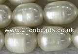 FWP190 15 inches 7mm - 8mm rice white freshwater pearl strands