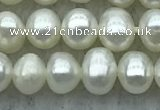 FWP27 14.5 inches 4mm - 4.5mm potato white freshwater pearl strands