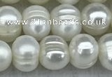 FWP37 15 inches 5mm - 6mm potato white freshwater pearl strands