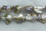 FWP370 15 inches 18mm - 22mm baroque freshwater nucleated pearl beads
