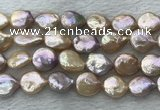 FWP391 15 inches 14mm - 15mm coin freshwater pearl beads