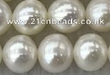 FWP76 15 inches 7mm - 8mm potato white freshwater pearl strands