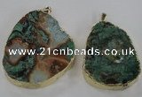NGP1584 40*50mm - 45*60mm freeform ocean agate gemstone pendants