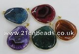 NGP1663 40*50mm - 45*55mm freeform agate gemstone pendants