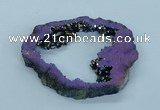 NGP1838 55*75mm - 65*80mm donut plated druzy agate pendants