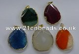 NGP3733 30*40mm - 35*45mm freeform agate gemstone pendants
