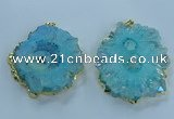 NGP3903 55*65mm - 65*80mm freeform druzy agate pendants