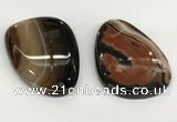 NGP5795 40*60mm flat teardrop agate pendants wholesale