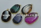 NGP8633 32*45mm - 46*48mm freeform druzy agate pendants wholesale