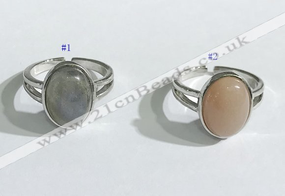 NGR1121 12*15mm oval mixed gemstone rings wholesale