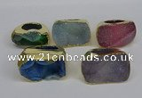 NGR309 25*40mm - 30*35mm freeform druzy agate gemstone rings
